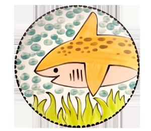Harrisburg Happy Shark Plate