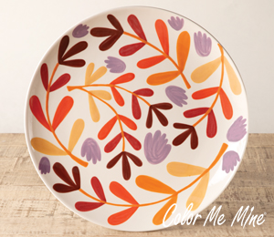 Harrisburg Fall Floral Charger