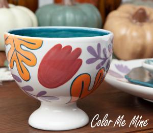 Harrisburg Floral Pedestal Bowl