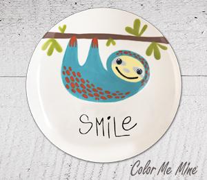 Harrisburg Sloth Smile Plate