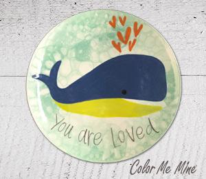 Harrisburg Whale Love Plate