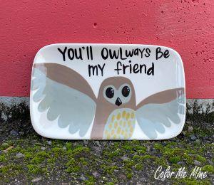 Harrisburg Owl Plate