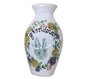 Harrisburg Floral Handprint Vase