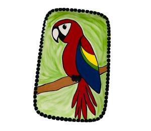 Harrisburg Scarlet Macaw Plate