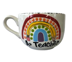 Harrisburg Polka Dot Rainbow Mug